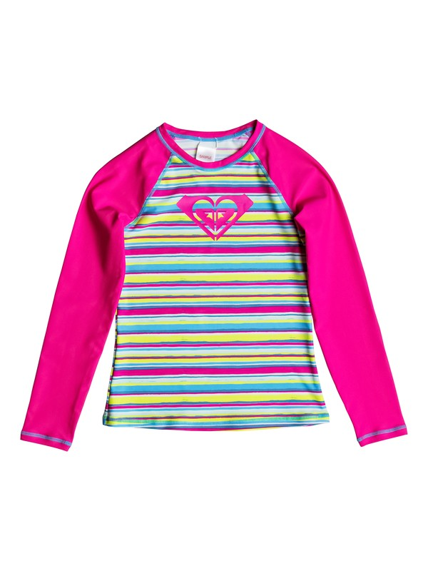 0 Girls 7-14 Island Tile Long Sleeve Rashguard  PGRS60437 Roxy