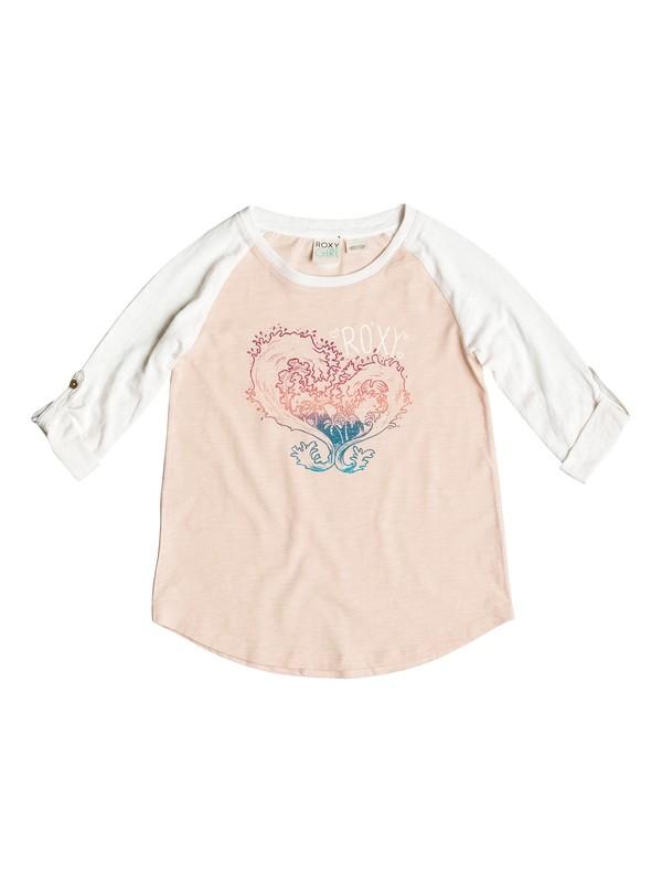 0 Girls 7-14 Waved Heart T-Shirt  PGRS61357 Roxy