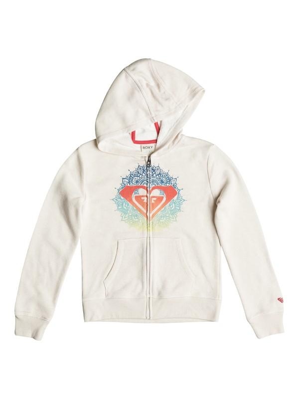 0 Girls 7-14 Henna Logo Zip-Up Hoodie  PGRS62197 Roxy
