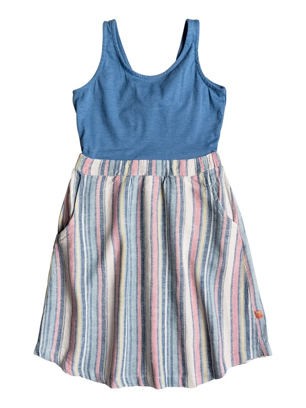 0 Girls 7-14 Seaglass Sleeveless Dress  PGRS68317 Roxy