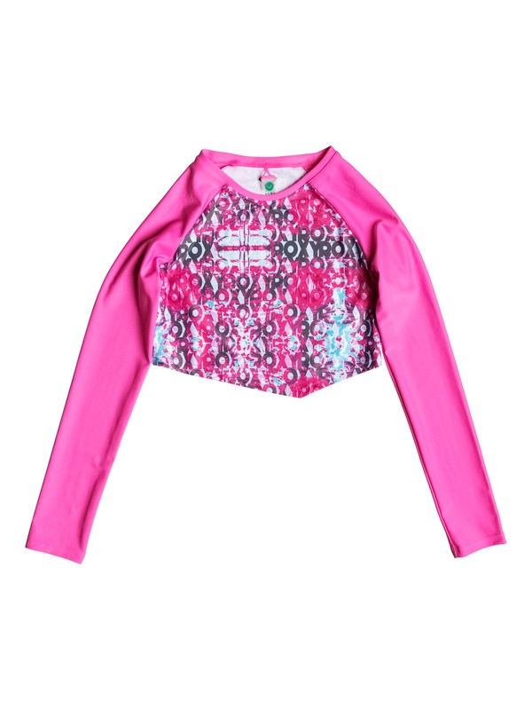 0 Girls 7-14 Altered Destination Cropped Long Sleeve Rashguard  PGRS68647 Roxy