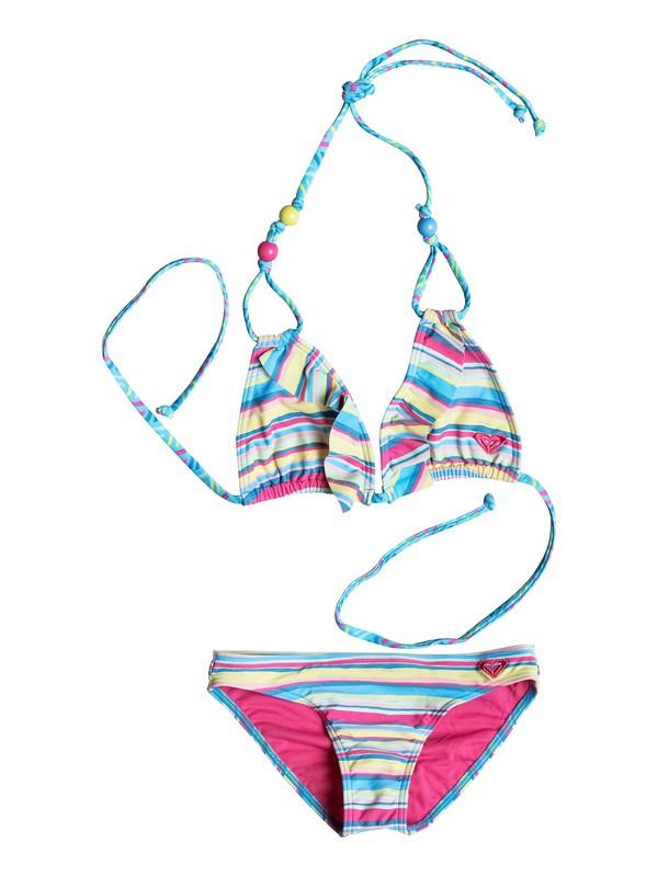 0 Girls 7-14 Island Tiles Ruffle Bikini  PGRS68687 Roxy