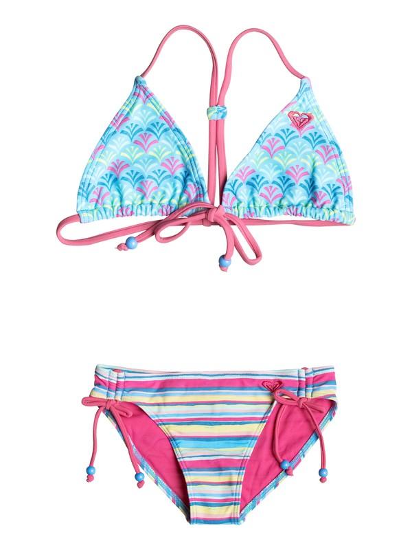 0 Girls 7-14 Island Tiles Tri Bikini  PGRS68697 Roxy