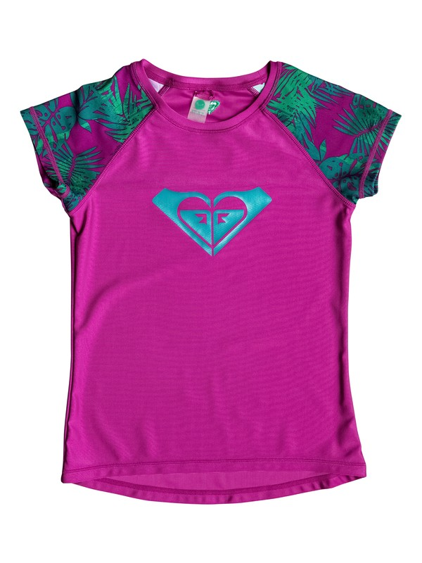 0 Girls 7-14 Primal Palms Short Sleeve Rashguard  PGRS68787 Roxy