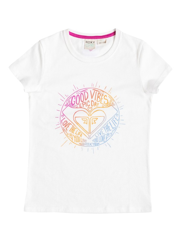 0 Girl's 7-14 Good Vibes Tee  RRF51027 Roxy