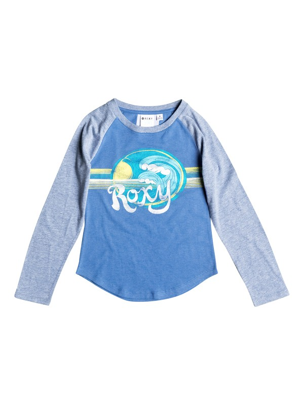0 Girl's 2-6 Retro Surf Raglan Long Sleeve Raglan Tee  RRF51566 Roxy