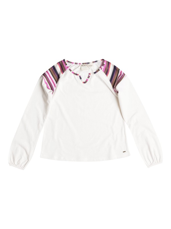0 Girl's 7-14 Sunkiss Shoulder Long Sleeve Top  RRF51697 Roxy