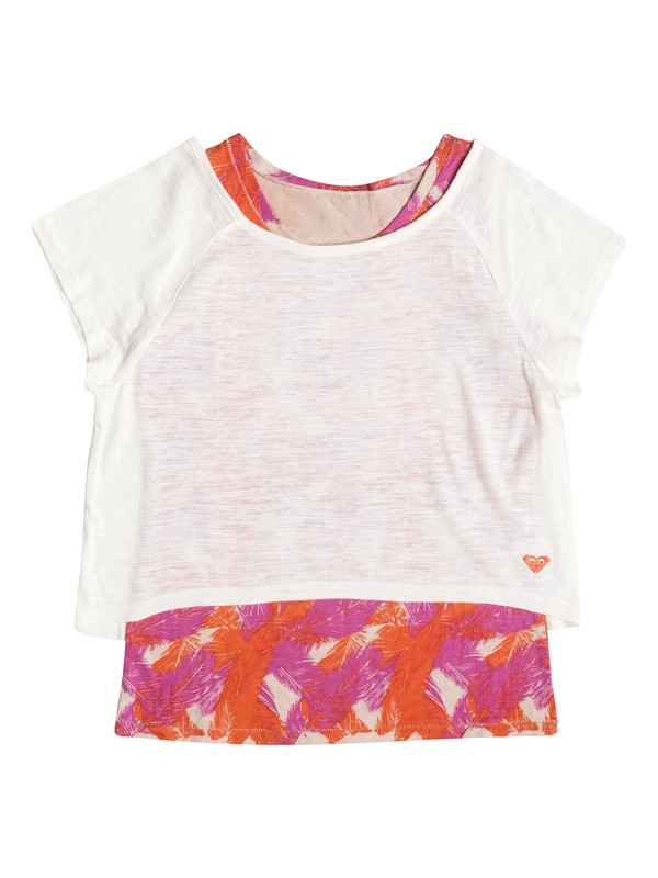 0 Girl's 7-14 Feathered Top  RRF51907 Roxy