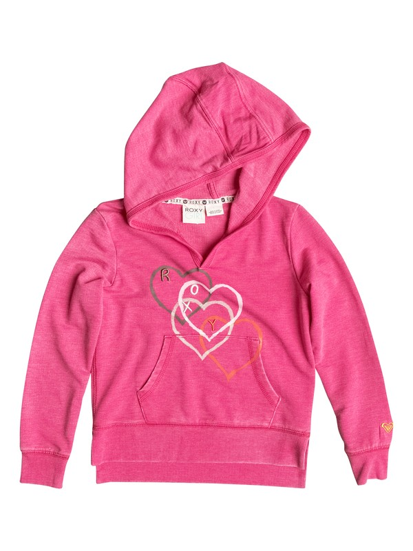 0 Girl's 2-6 Falling Heart Pullover Hoodie  RRF52216 Roxy
