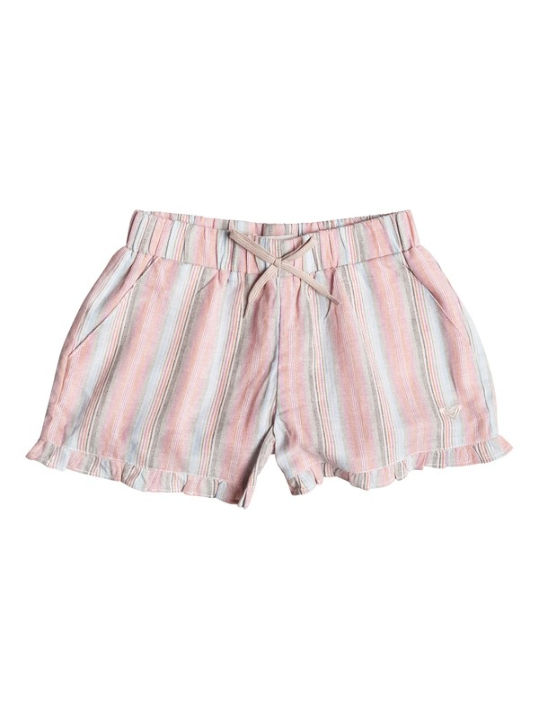 0 Shorts Ruffle Striped - Niñas 7 -14  RRF55047 Roxy