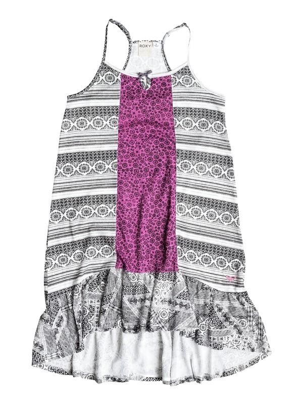 0 Girl's 7-14 White Water Wave Dress  RRF58067 Roxy
