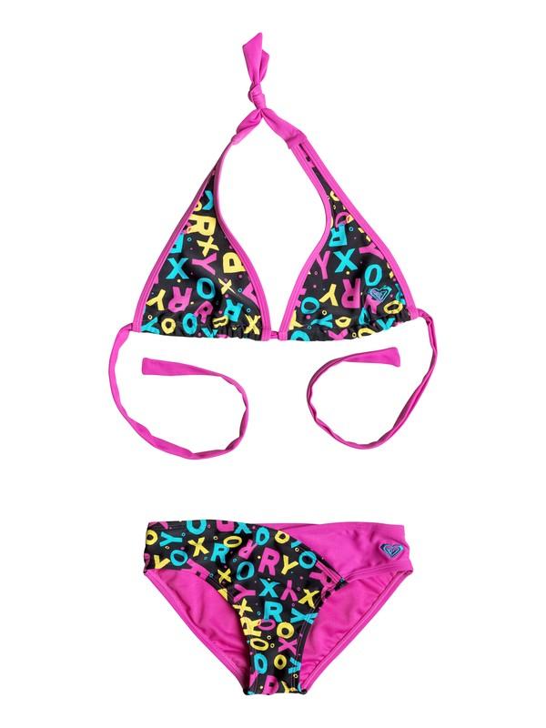 0 Girl's 7-14 Pop Logo Halter Bikini Set  RRF58547 Roxy