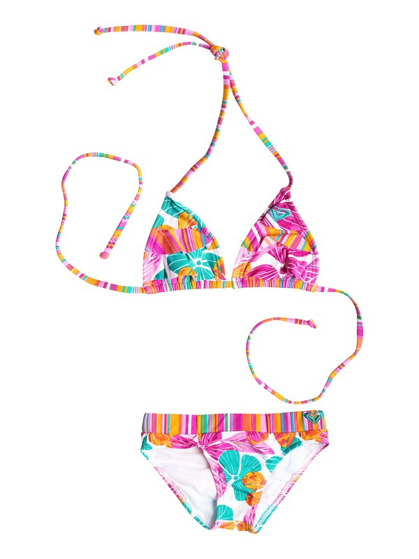 0 Girl's 2-6 Flutter Tiki  Triangle Bikini Set  RRF58686 Roxy