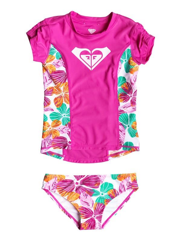 0 Baby Fall Tropics Floral Rashguard Set  RRF58701 Roxy