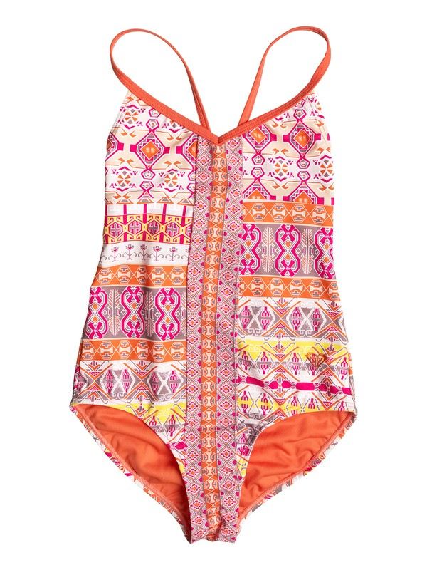 0 Girl's 7-14 Moroccan Mirage One Piece Swimsuit  RRF68617 Roxy