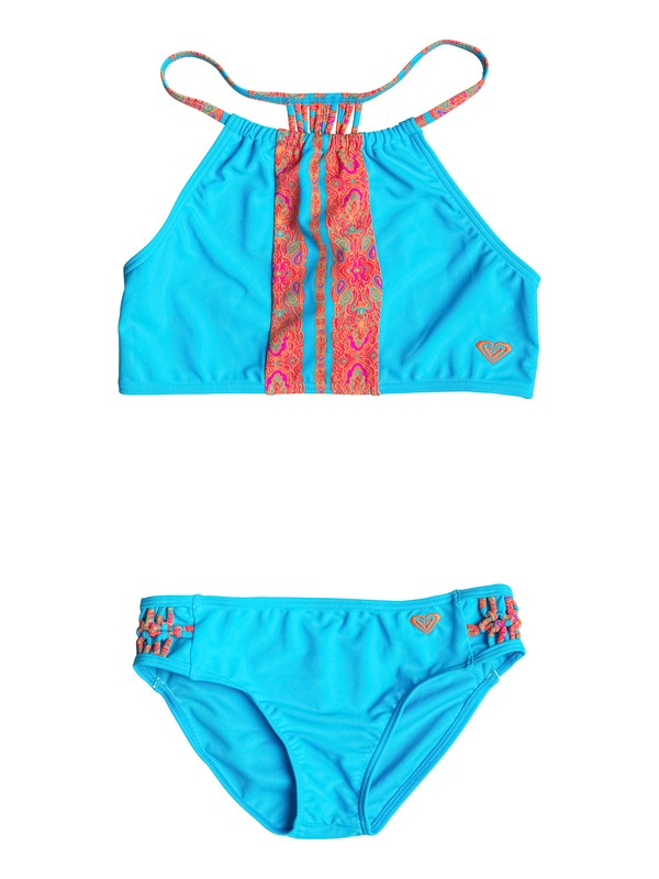 0 Girl's 7-14 Moroccan Stripes Tankini Set  RRF68637 Roxy
