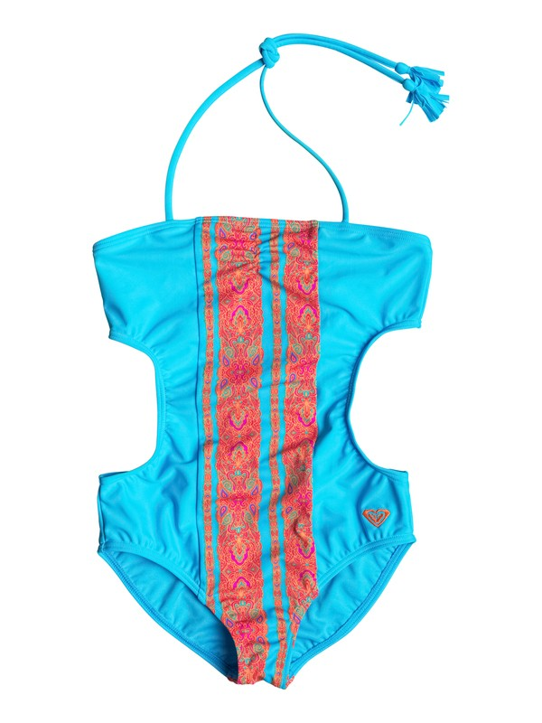 0 Girl's 7-14 Moroccan Stripes One Piece Swimsuit  RRF68667 Roxy