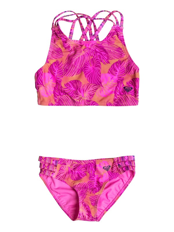 0 Girl's 2-6 Valencia Beach Tankini Set  RRF68726 Roxy