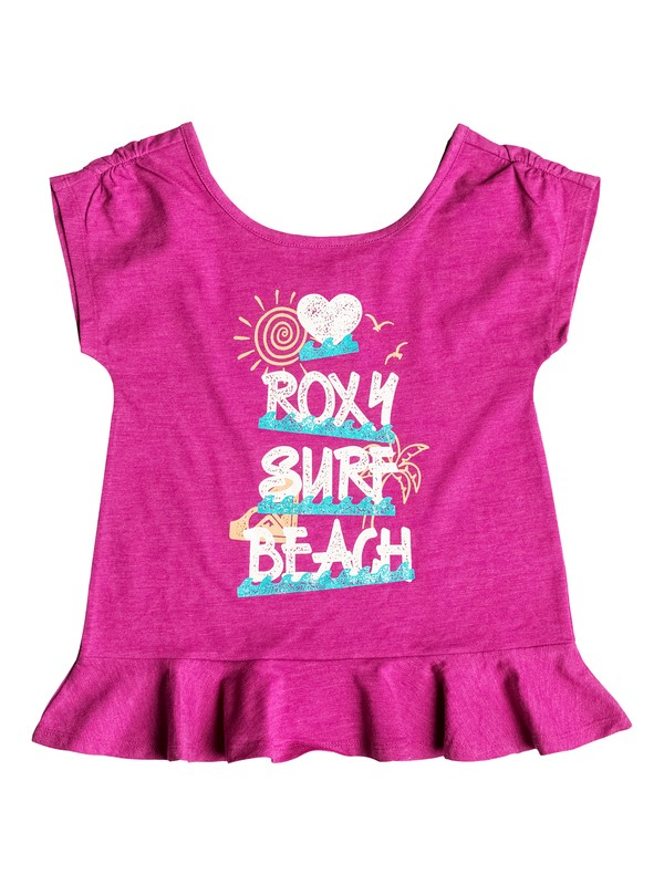 0 Girls 2-6 Surf Beach T-Shirt  RRH51386 Roxy
