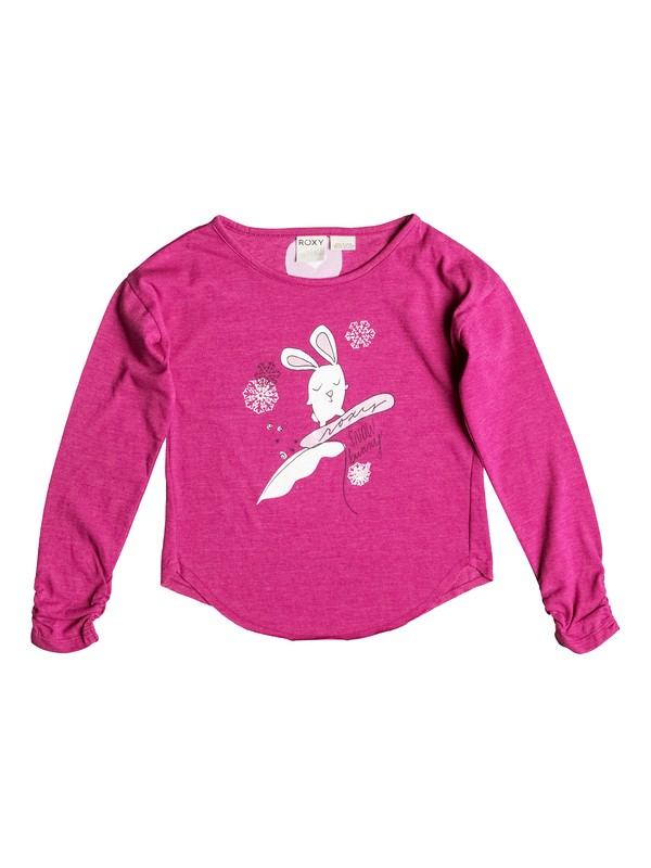 0 Girls 2-6 Snow Bunny Long Sleeve T-Shirt  RRH51416 Roxy
