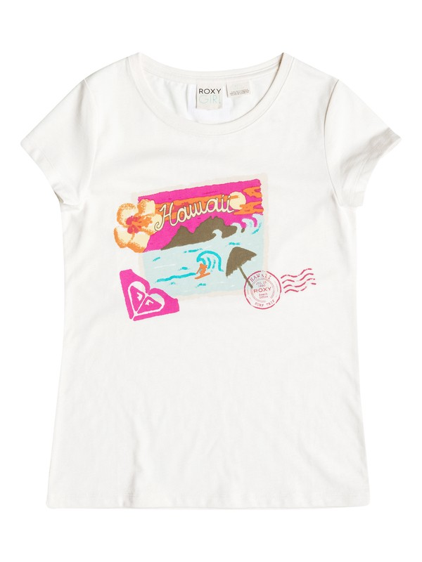 0 Girls 2-6 Postcard T-Shirt  RRH51556 Roxy