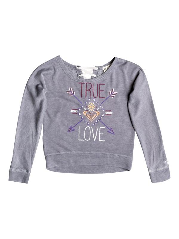 0 Girls 7-14 Big True Love Pullover Hoodie  RRH52007 Roxy