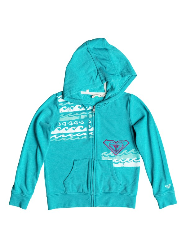 0 Girls 7-14 Big Love The Waves Zip-Up Hoodie  RRH52237 Roxy