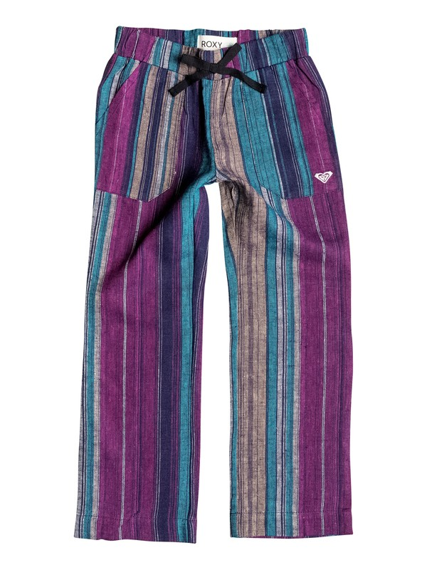 0 Girls 7-14 Big Beach Stripe Pants  RRH55097 Roxy