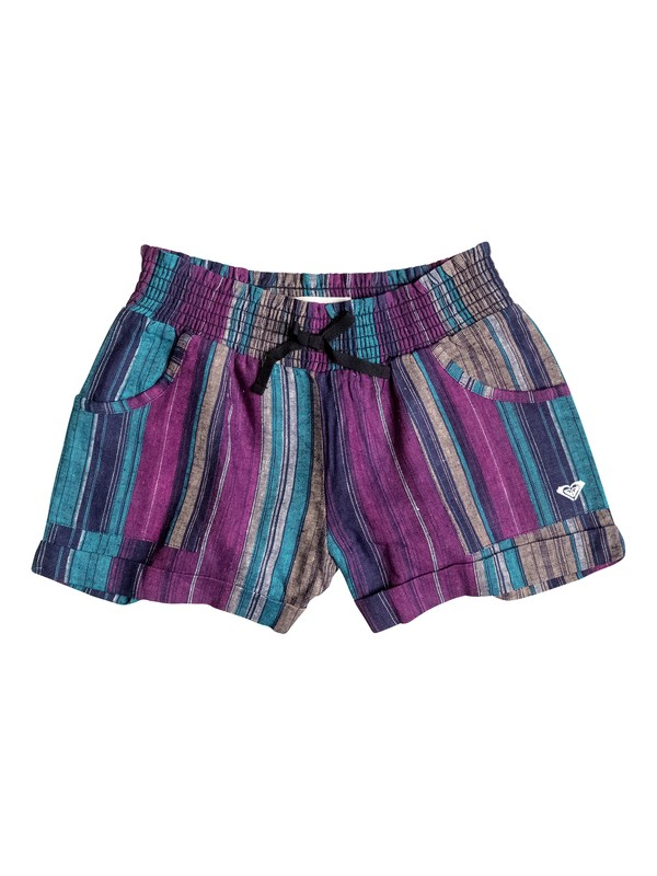 0 Girls 7-14 Big Beach Stripe Shorts  RRH55107 Roxy