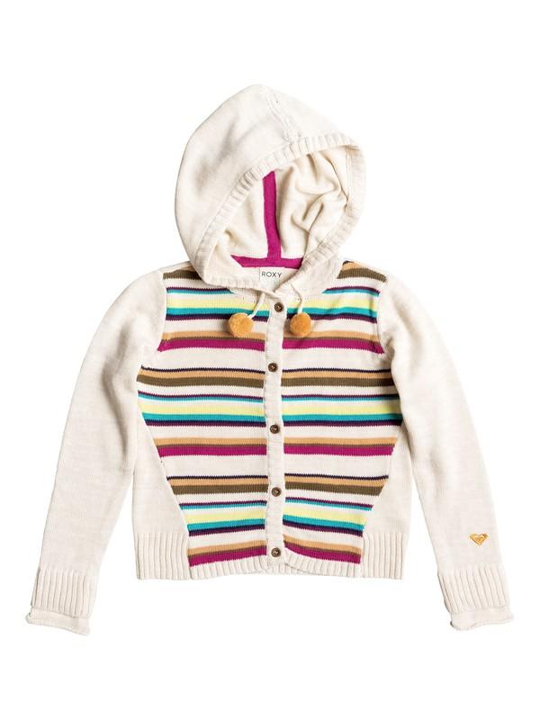 0 Girls 7-14 Big Pom Pom Knitted Hoodie  RRH56047 Roxy