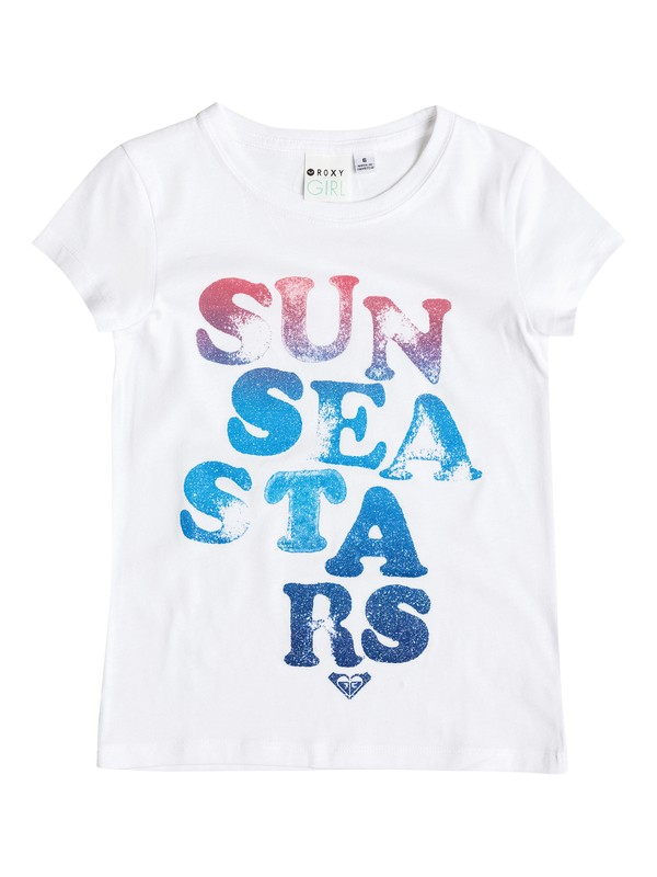 0 Girl's 2-6 Sun Sea Stars Tee  RRM51296 Roxy