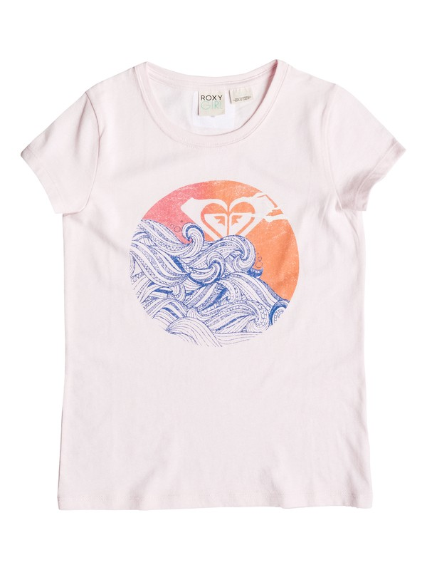 0 Girl's 7-14 Setting Waves Tee  RRM51507 Roxy