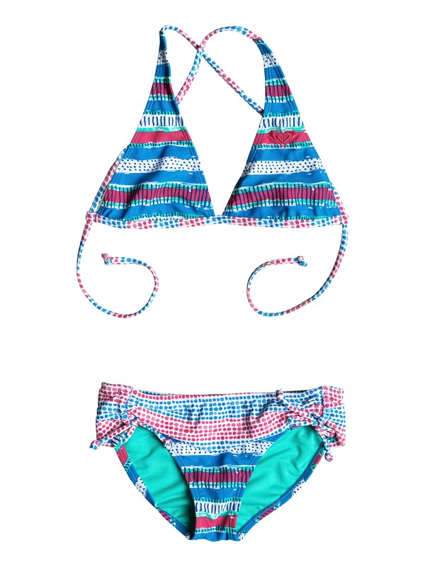 0 Girl's 7-14 All Mixed Up Halter Bikini Set  RRM58527 Roxy