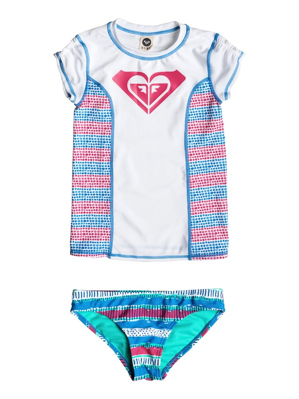 0 Girl's 2-6 All Mixed Up Rashguard Set  RRM58556 Roxy
