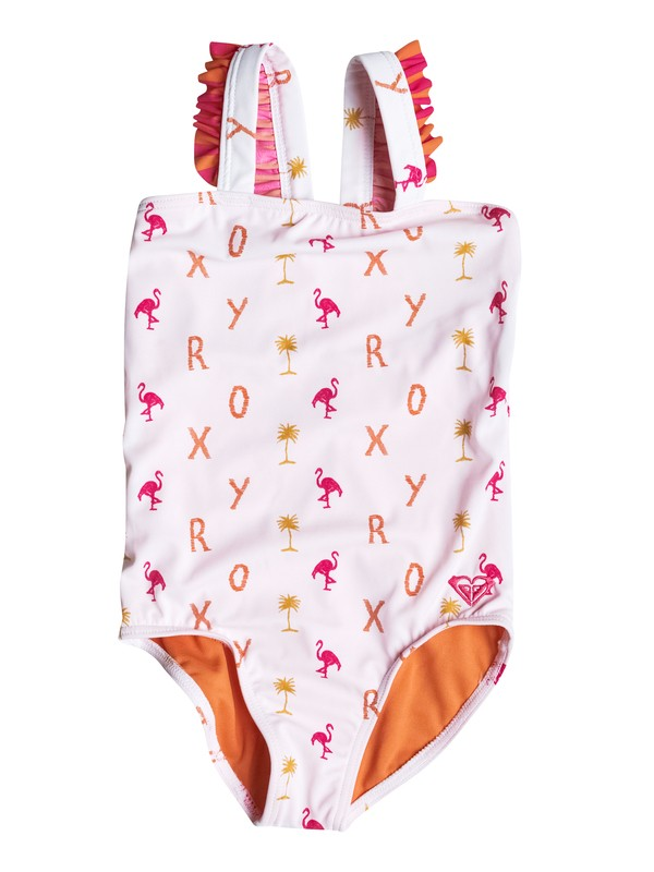 0 Girl's 2-6 Flamingo Beach One Piece Swimsuit  RRM58646 Roxy