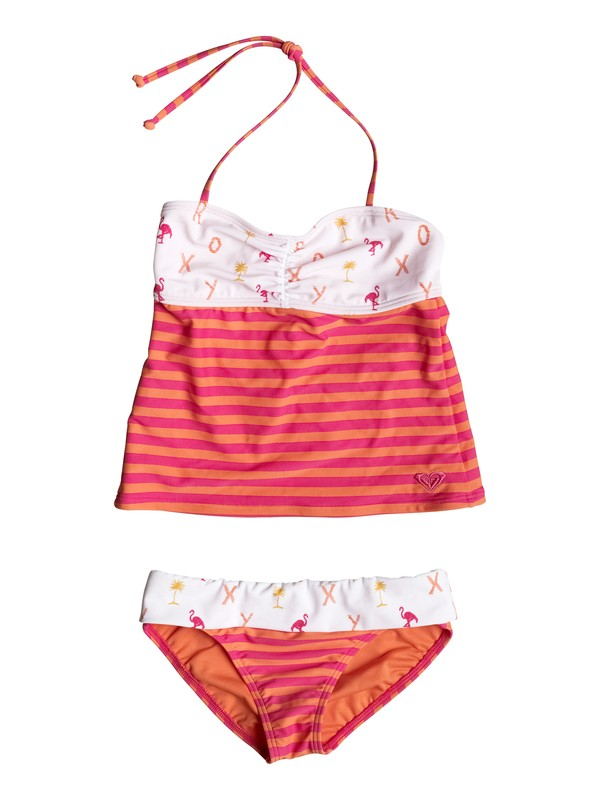 0 Girl's 7-14 Flamingo Beach Tankini Set  RRM58827 Roxy