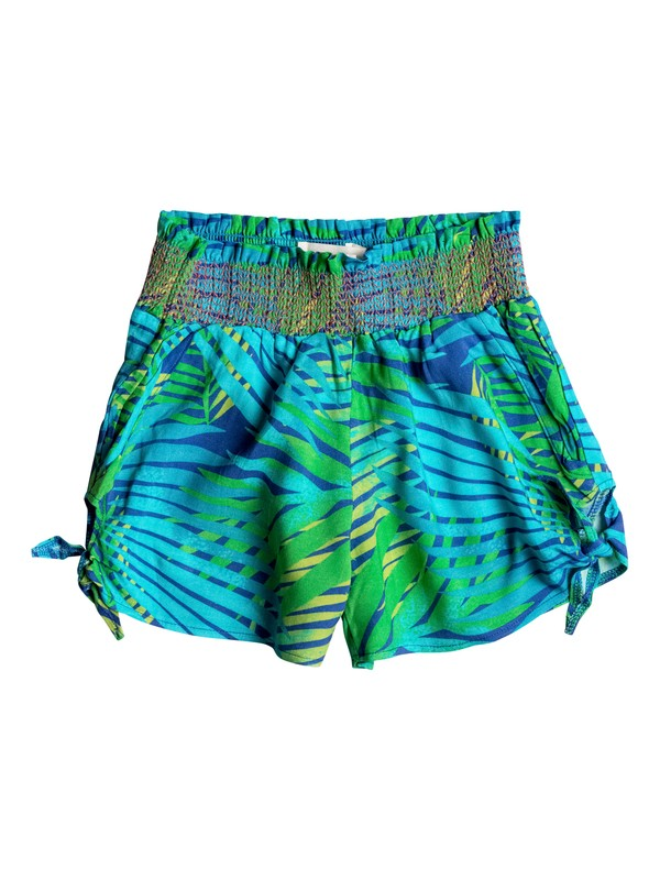 0 Girls 7-14 White Palm Shorts  RRM65187 Roxy