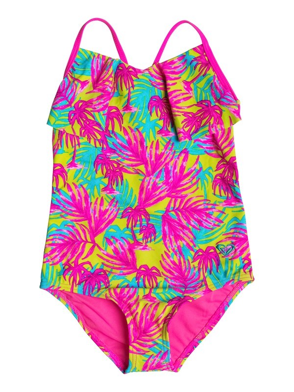 0 Girls 2-6 Paradise Beach One Piece Swimsuit  RRM68566 Roxy