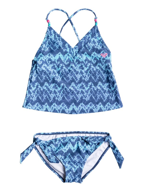 0 Girls 7-14 Summer Escape Tankini Set  RRM68617 Roxy
