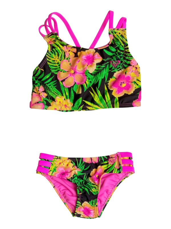 0 Girls 2-6 In The Tropics Crop Set  RRM68736 Roxy