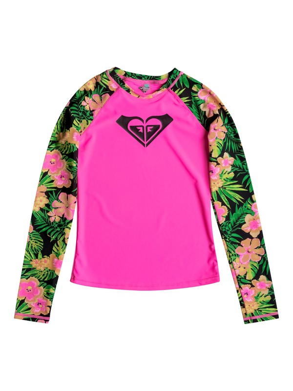 0 Girls 7-14 In The Tropics Rashguard  RRM68747 Roxy