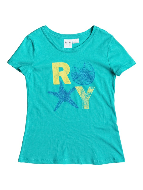 0 Girl's 7-14 Shells Crew Neck Tee  RRS51117 Roxy