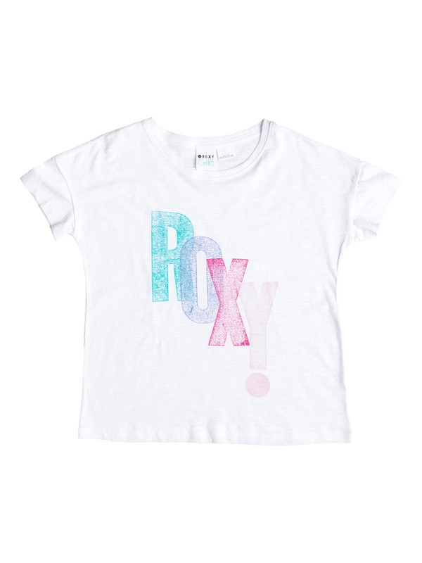 0 Girl's 7-14 Exclamation Crew Tee  RRS51167 Roxy
