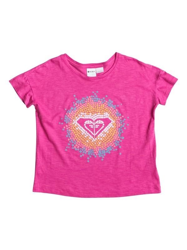 0 Camiseta de Cuello Redondo Mosiac - Niñas 7 -14  RRS51177 Roxy
