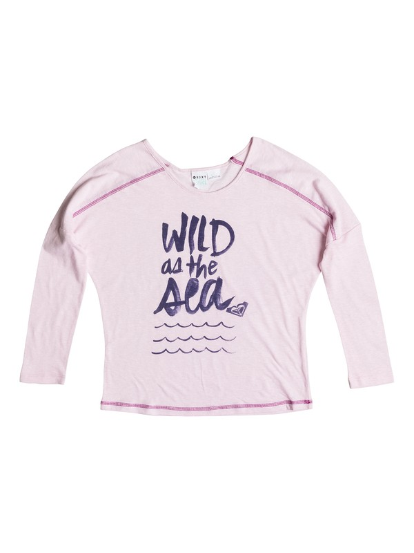 0 Girl's 7-14 Wild Sea Raglan Tee  RRS51497 Roxy