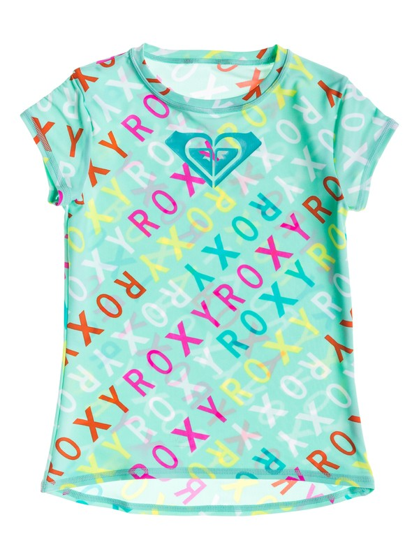 0 Girl's 7-14 Surfs Up Short Sleeve Rash Guard  RRS51747 Roxy