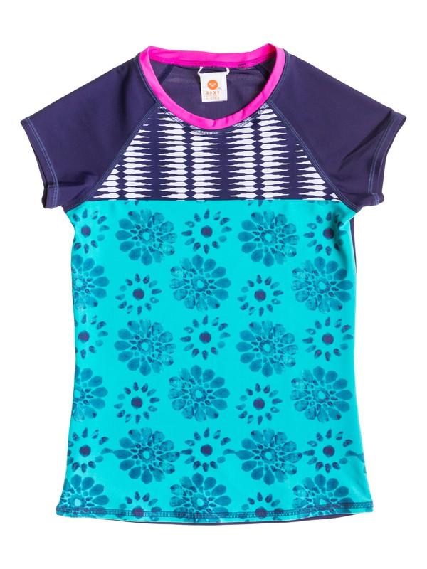 0 Girl's 7-14 Batik Paradise Short Sleeve Rashguard  RRS51757 Roxy