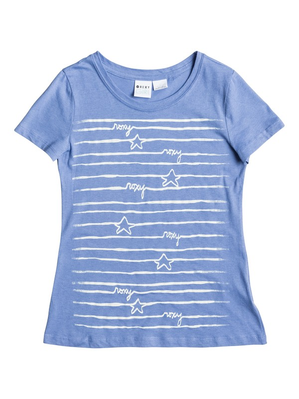 0 Girl's 7-14 Star's and Lines Tee  RRS51967 Roxy