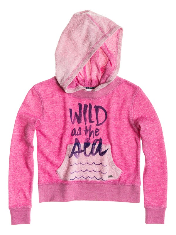 0 Girl's 7-14 Wild As The Sea Hoodie  RRS52057 Roxy