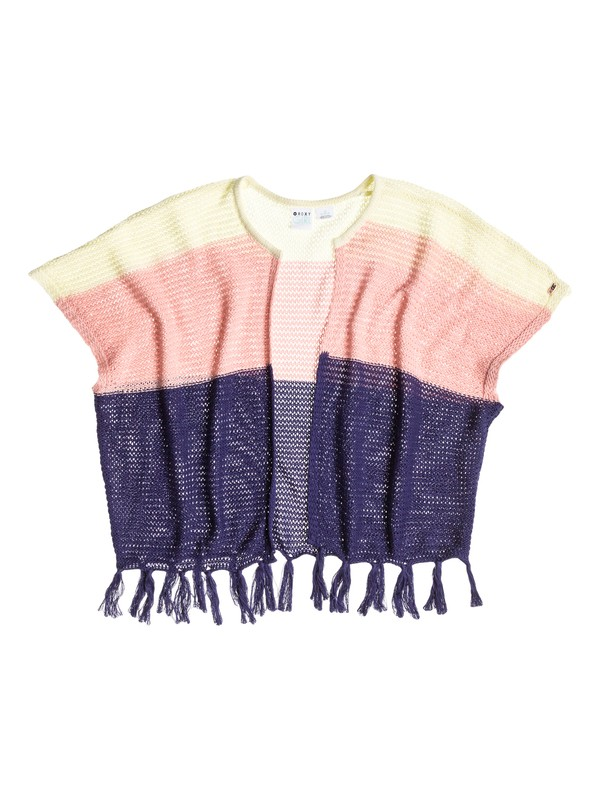 0 Girl's 7-14 Sunshine Colorblock Poncho  RRS56037 Roxy
